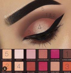 Modern Renaissance palette look #makeuptips