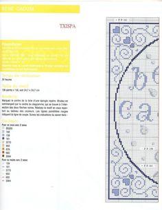 point de croix grille et couleurs de fils bébé cadum , bebe calin 1