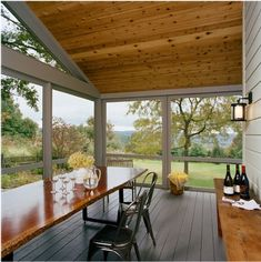 I am going to have a screened porch as big as my new little house including a kitchen so we can cook, sleep and live outside at least half of the year.