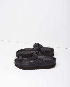 y - birkenstock toe strap sandal : leather + rubber