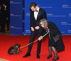 White House Correspondents' Association Dinner. Carrie Fisher & Tom Hiddleston.