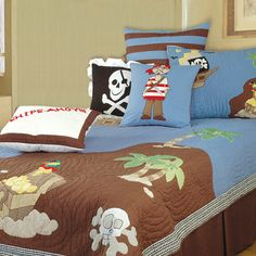 Hoping to find this on ebay for charlie when he moves in with jack!  Enhance your child's bedroom with vibrant colors and a playful design like the Pirate Quilt. Perfect for your little one's bedroom, this pirate themed qu...