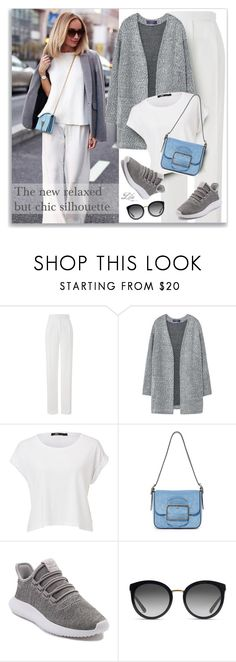 """""""Relaxed but chic silhouette"""" by breathing-style ❤ liked on Polyvore featuring Daniel Wellington, Amanda Wakeley, MANGO, Tory Burch, adidas and Dolce&Gabbana"""