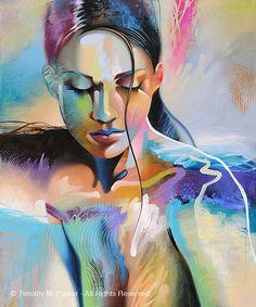 FIGURE étude #8 - tirage d'Art sur papier texturé ou toile - édition limitée de 295 Cette oeuvre figurative abstraite qui combine lénergie au hasard dune peinture abstraite et la pose tranquille de la figure féminine. À la main signée par lartiste - Tim Parker ::: CINQ DIFFÉRENTES TAILLES::: Taille de limage : 12 « x 16 » sur du papier Fine Art Taille du papier : 16 « x 20 » (impression est signé dans la bordure blanche à la main) Non encadrée - sadapte à nimporte quel Standard de taille…