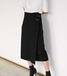 ジョーゼットラップスカート-5
