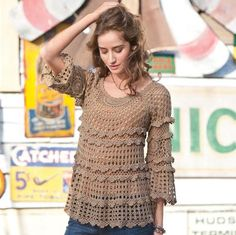 Hooked on crochet: Crochet tunic / Túnica de crochê