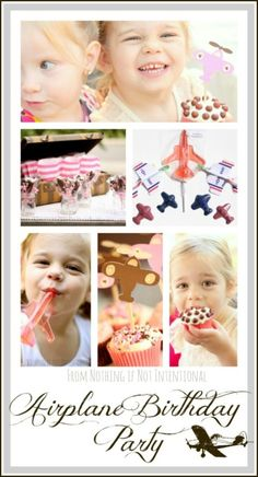 Airplane birthday party ideas for your future pilot. ADORABLE!