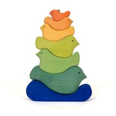 Bird Stacking Tower by The Wooden Wagon Toys & Folk Art