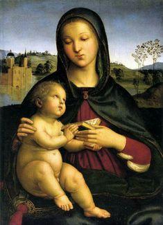 Madonna con Bambino.  1592-1503. 55x40. Olio su tavola. Norton Simon Art Foundation. Pasadena.