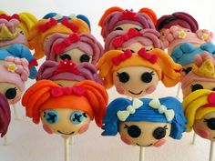 Lalaloopsy Cake Pops  Cake by CakePopCreations