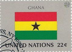 national flag on UN stamp:ghana