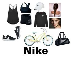 """""""Nike"""" by magui005 ❤ liked on Polyvore featuring NIKE and Burberry"""