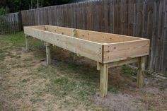 Raised Garden Bed Table | raised bed table making for Mom so she won't have to bend over to ...