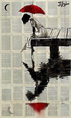 Loui Jover (Serene Days) Canvas Print Loui Jover (Serene Days) girl with red umbrella print, perfect for urban contemporary living. Head to artgroup. Baseball Wallpaper, Mlb Wallpaper, Canvas Art, Canvas Prints, Art Prints, Newspaper Art, Newspaper Painting, Umbrella Art, Umbrella Painting