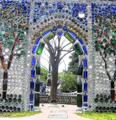 The Bottle Chapel at Airlie Gardens, North Carolina.