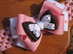 Infant Bow, Baby Bow, Girls Bow, Infant Headband, Baby Headband, Girls Headband, Boutique Bow by MyKidsCuterBowtique