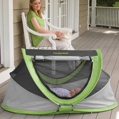 PeaPod Plus Baby Travel Bed in Late Summer 2012 from One Step Ahead on shop.CatalogSpree.com, my personal digital mall.
