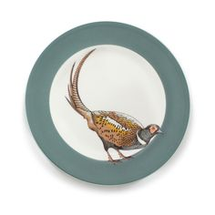 Featuring iconic creatures from the wilderness, the Jersey Pottery Faunus Side Plates are ideal for everyday use. Plate Wall Decor, Plates On Wall, Ceramic Tableware, Glass Ceramic, China Painting, Ceramic Painting, Plate Art, Plate Design, Side Plates