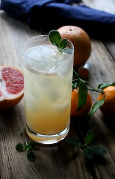 A light and refreshing cocktail made with grapefruit, satsuma, vodka, simple syrup and topped off with club soda.