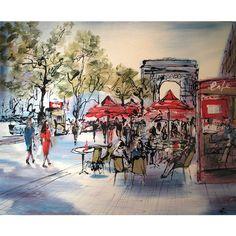 Paris in the Springtime by Paul Kenton - - Original Paul Kenton, Paris Decor, Paris Love, Spring Time, Painting & Drawing, Photo Art, Urban, Abstract, Artwork