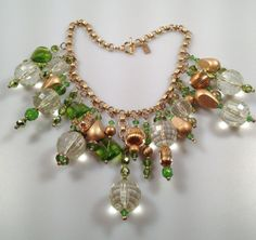 IBA Statement Necklace Green Gold & Awesome by InspiredByAmber, $139.00
