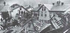 Aftermath of the Johnstown (PA) flood, 1889.