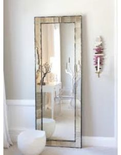 Mirror Full Length Floor Mirror With A Small Decoration On The Wall Great Home Interior Full Length Floor Mirror Driftwood. No Frame. Long Mirror, Round Wall Mirror, Mirror Mirror, Big Mirrors, Floor Mirrors, Wall Mirror Design, Huge Mirror, Entryway Mirror, Decoration Bedroom