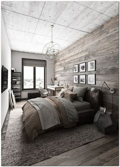 Beautiful 70+ Ideas for Industrial Bedroom Interior  The post  70+ Ideas for Industrial Bedroom Interior…  appeared first on  Home Decor .