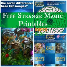 STRANGE MAGIC - New Free Activity Sheets Now Available!!! Print yours! http://superduperkidsblog.com/strange-magic-new-free-activity-sheets-now-available/