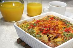 This breakfast casserole has half the calories and 1/3 the fat of the original!