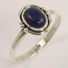 Manufacturer Ring Size US 8.75 Natural LAPIS LAZULI Gemstone 925 Sterling Silver…