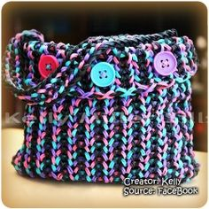 A rainbow loom purse how do they do its only made out of rubberbands