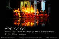 """""""Vemos os defeitos alheios panoramicamente; o difícil é vermos as nossas próprias falhas."""" — Textos Budistas - Veja mais sobre Espiritualidade & Autoconhecimento no blog: http://sobrebudismo.com.br/"""