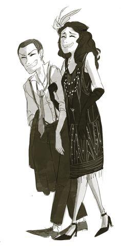 Connie and Sasha, 1920s by johannathemad