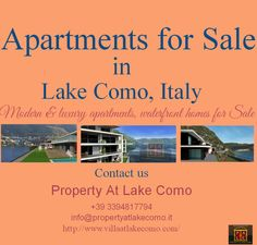 Apartments for Sale in Lake Como, Italy