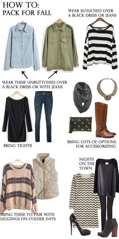 What to pack for a fall trip packing list #traveltips
