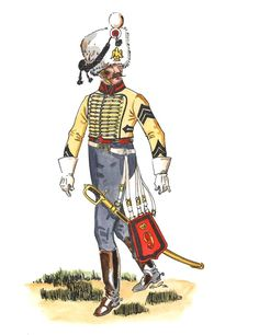 French; 9th Hussars, trumpet-Major, 1808-14 by Jose M.Bueno