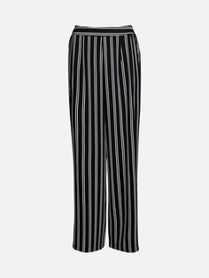 Wide trousers in a polyester weave with an elasticated waistband at the back.     Multi