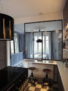 Décoration d'un salon / salle à manger et cuisine ouverte  Florence VATELOT
