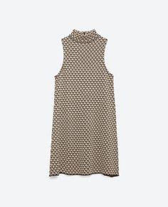 Image 8 of MICRO JACQUARD DRESS from Zara