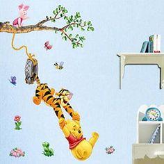 Umwelt abnehmbaren glücklich Tiger-PVC-Wand papaer 2016 - €6.85