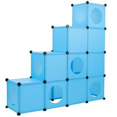 Cat Condo / Blue XL Modular 109 Piece Cat Condo / Cat House / DIY Cat Tower / Cat Tree Kit / Build Your Own Fully Customizable Cat House By Frontpet -- Want additional info? Click on the image. (This is an affiliate link and I receive a commission for the sales) #Catbedsandfurnitures