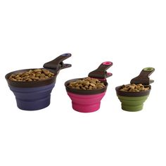 Dry food scoops that collapse into food bag clips!