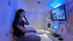 女性にもおすすめ!京都のカプセルホテル一覧 ↓ カプセルホテル 漫遊堂 Futuristic Bed, Futuristic Interior, Sleeping Pods, Capsule Hotel, Room Setup, Future Tech, Private Jet, Go To Sleep, Fitness Quotes