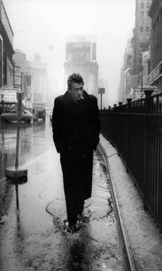James Dean in Times Square, NYC, 1955. Photographed by Dennis Stock.