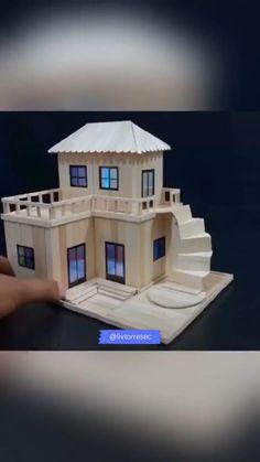 Diy Crafts Life Hacks, Diy Crafts For Home Decor, Diy Crafts For Gifts, Diy Arts And Crafts, Craft Stick Crafts, Wooden Craft Sticks, Cool Paper Crafts, Paper Crafts Origami, Cardboard Crafts