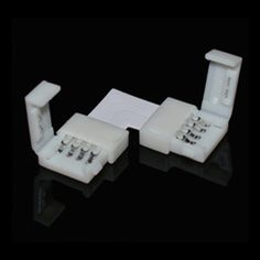 Lot 4pin 2 Way L Shape Corner Connector for RGB 5050 LED Strip Lights 10mm Width - 5$ Dim Lighting, Strip Lighting, Led Dimmer, L Shape, Led Strip, Electrical Equipment, Usb Flash Drive, Lights, Connection