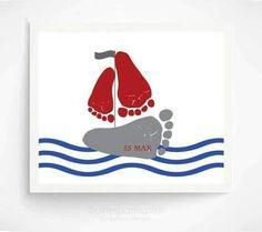 cute idea foot print
