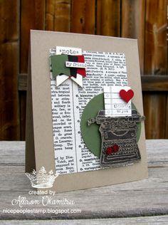 nice people STAMP!: Tap, Tap, Tap Vintage Vibe Card - Stampin' Up! by Allison Okamitsu