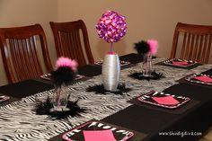 zebra party ideas